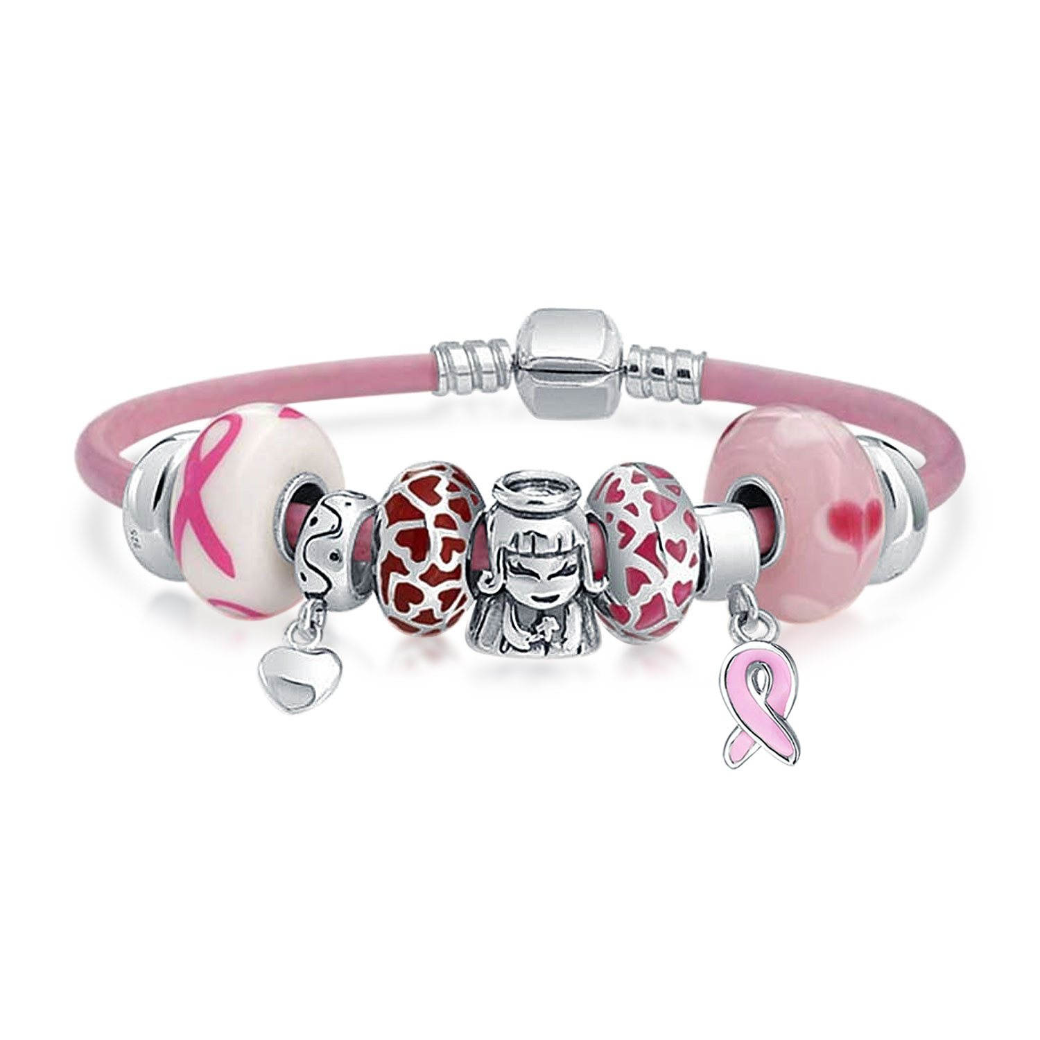 pandora breast cancer charm