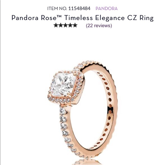 pandora rose gold ring