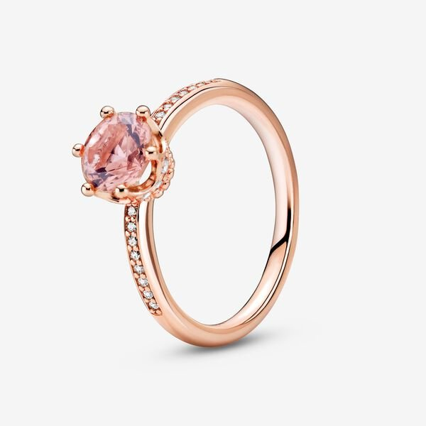 rose gold pandora rings